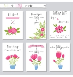 Collection of cute card vector image