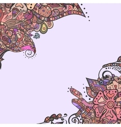 Decorative element corners Abstract invitation vector image vector image