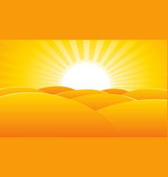 desert summer landscape poster background vector image vector image