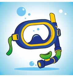 Diving mask vector