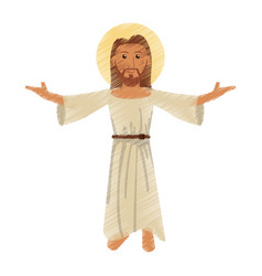 Drawing jesus christ character vector