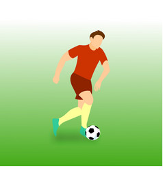 Dribbling run football player vector