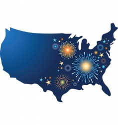 fourth of july fireworks vector image vector image