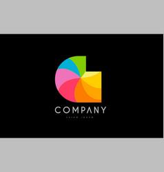 g rainbow colors logo icon alphabet design vector image