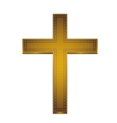 golden cross vector image