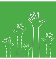 Green hands vector