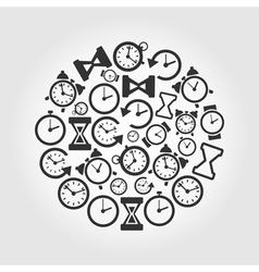 Hours a circle vector image vector image