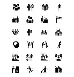 Human icons 1 vector