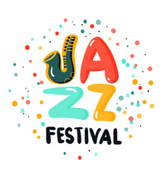 Jazz sign concept vector