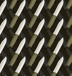 Military dagger seamless pattern 3d background of vector image vector image