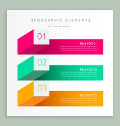 Modern business infographic banner vector