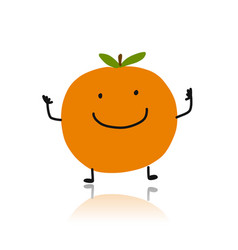 orange cute character for your design vector image vector image