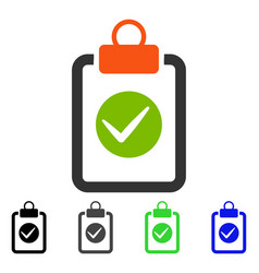 Pad confirmation flat icon vector