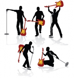 playing guitarist vector image vector image