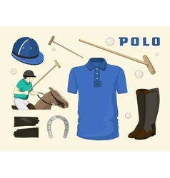 Polo objects Sport uniform vector image vector image