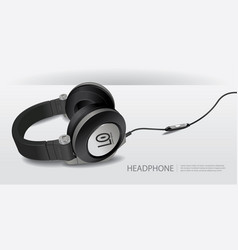 realistic headphones isolated vector image vector image