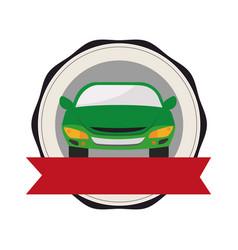 Rent a car service icon vector