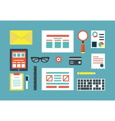 Set of equipment for programing and design vector image vector image