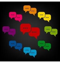 Speech bubles icon set vector