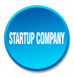 Startup company blue round flat isolated push vector