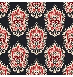 Vintage damask seamless ornamental pattern vector
