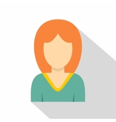 Young woman avatar icon flat style vector
