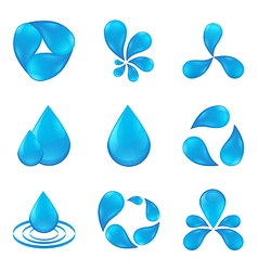 set of abstract icon waters designs vector image
