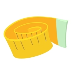 Measuring tape icon cartoon style vector