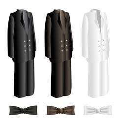 Men suit and necktie set vector