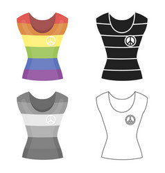 dress icon cartoon single gay icon from the big vector image