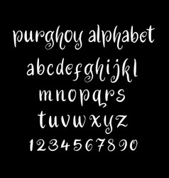 purghoy alphabet typography vector image