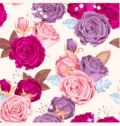 Beautiful roses seamless vector