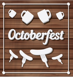 Oktoberfest festival typography background vector