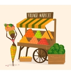 Local farmer shopkeeper vector