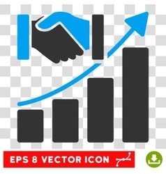 Acquisition growth eps icon vector