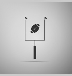 American football with goal post icon isolated vector
