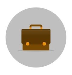 Briefcase icon flat vector image