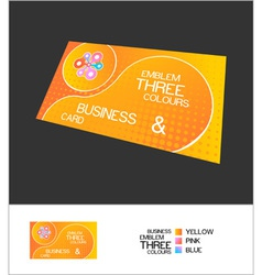 business card abstract vector image