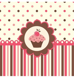 Cake background vector image