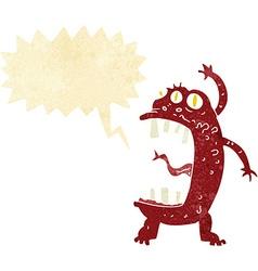 cartoon crazy monster with speech bubble vector image