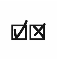 Checkmark to accept and refusal icon simple style vector