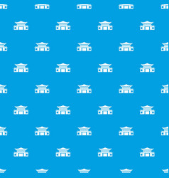 chinese pattern seamless blue vector image vector image