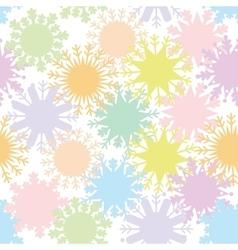 Christmas design seamless pattern snowflake set vector image vector image