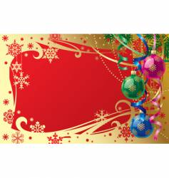 Christmas & New-Year's card vector image vector image