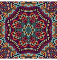Festive colorful mandala star pattern vector