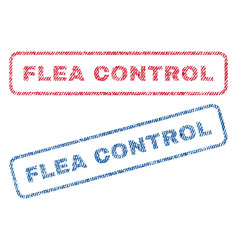 Flea control textile stamps vector