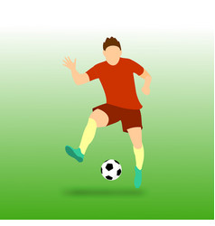 Freestyle football soccer player vector