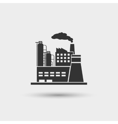 Industrial plant icon vector image