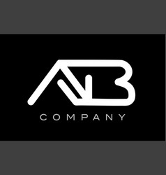 Letter ab a b alphabet logo icon template design vector