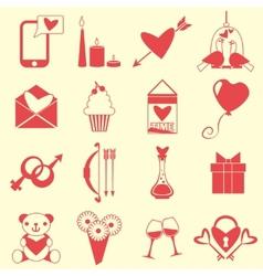 Love symbols set vector